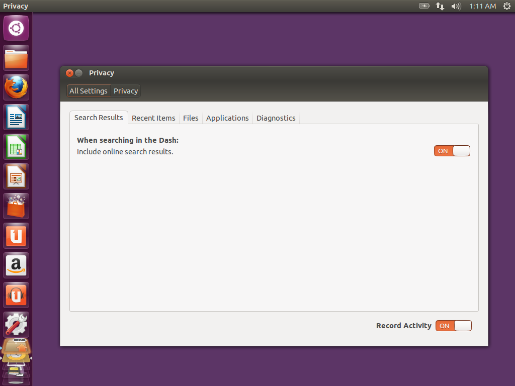 Ubuntu 12.10 HAS NO FREAKING PRIVACY!